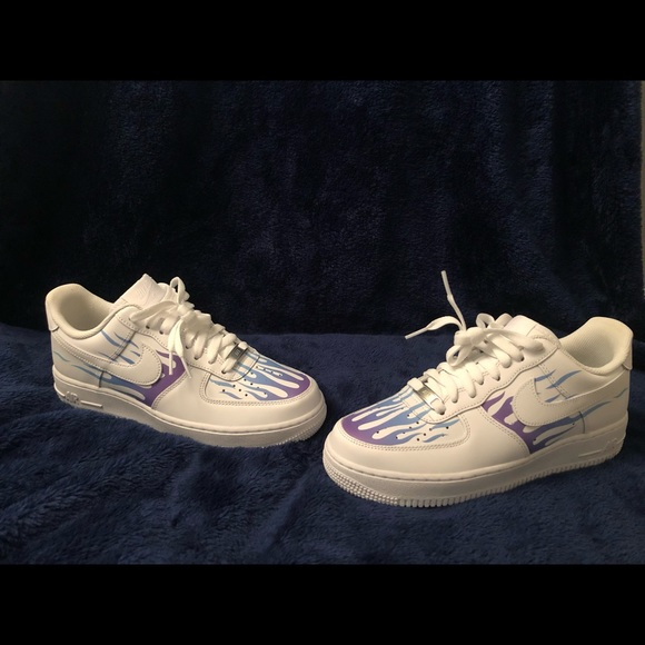 drip creationz Air Force ones flame NWT